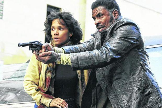 Halle Berry and Keith David in a scene from the movie shot in Glasgow