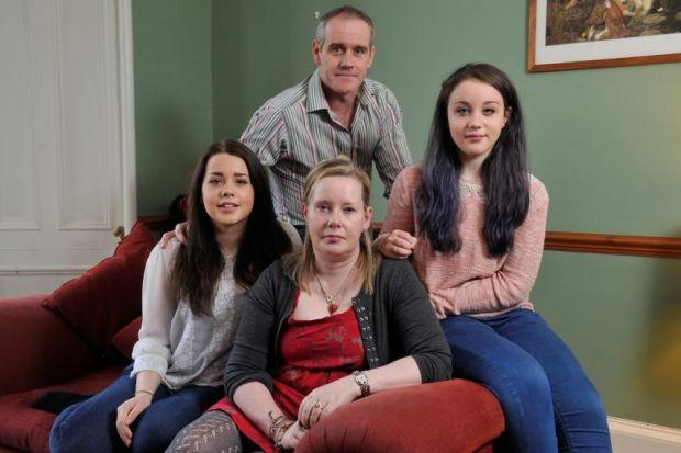 Fiona and Gordon with daughters Lucy, 17, and Emily, 13