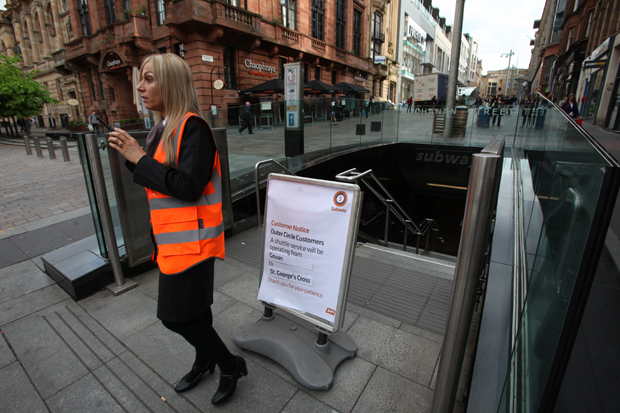 Cowcaddens and Buchanan Street underground stations have been closed