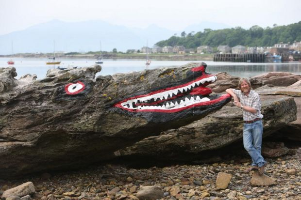 Paul Watling at the Crocodile Rock in Millport Bay. Picture: Marc Turner