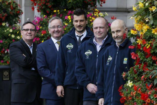 Lord Haughey and Gordon Matheson joined the first Green Champions