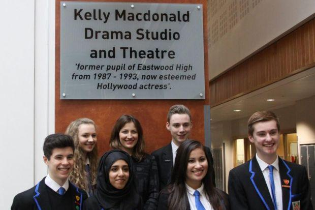 Teacher Stuart Maxwell welcomed Kelly to the new Eastwood High