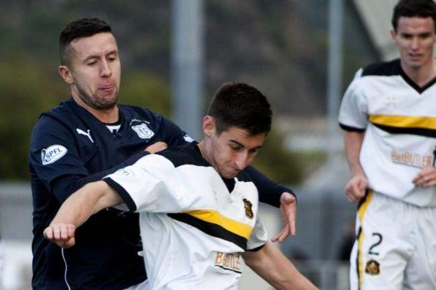 Aaron Barry got some much-needed match experience in his spell at Dumbarton