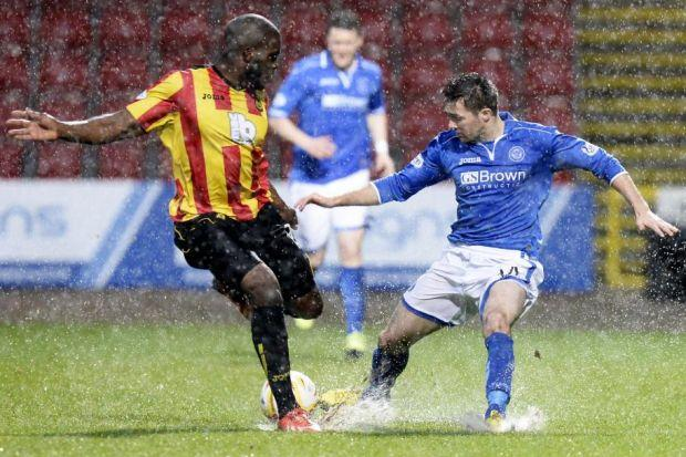 Isaac Osbourne was injured in the washout against St Johnstone in December