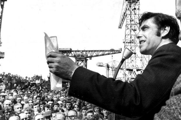 Jimmy Reid became a national celebrity thanks to his role in the fight to keep shipbuilding on the Clyde