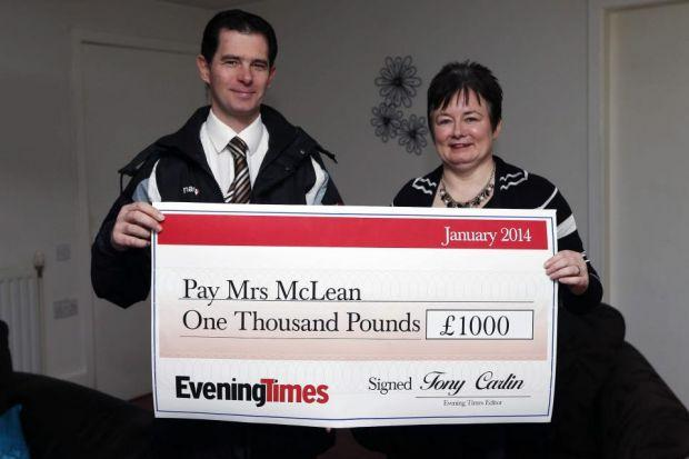 Frances McLean won our £1000 home delivery prize