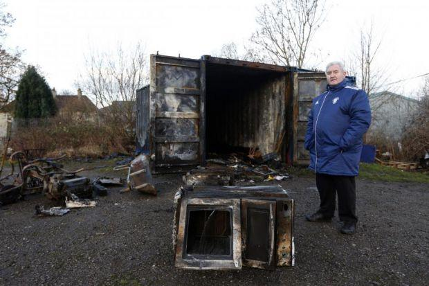The firebugs destroyed £2000 of team equipment at Blantyre Vics