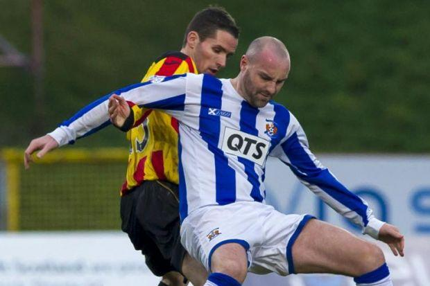 Partick Thistle's Lee Mair kept a close watch over Kris Boyd as he helped his new side to a 1-1 draw against Kilmarnock on his debut ... now he is looking for