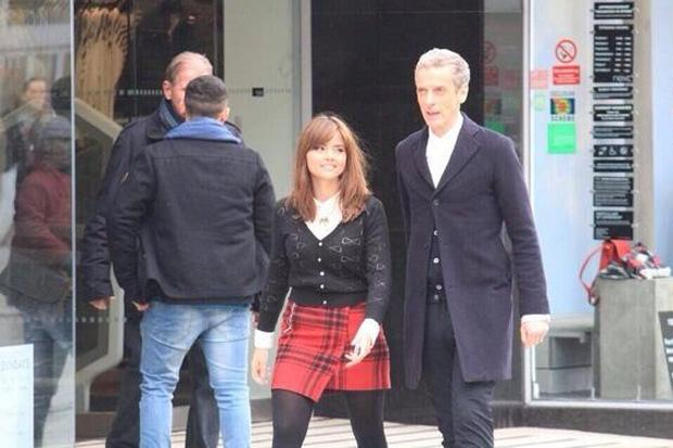 In pictures: shoppers watch new Dr Who Peter Capaldi in action