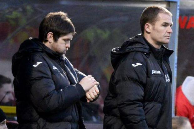 Alan Archibald (right) and Scott Paterson are one year in management at Partick Thistle