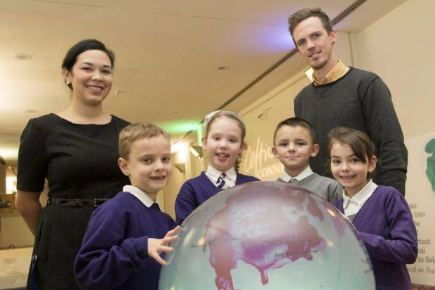 The globe provided the children with information on Celtic Connections acts