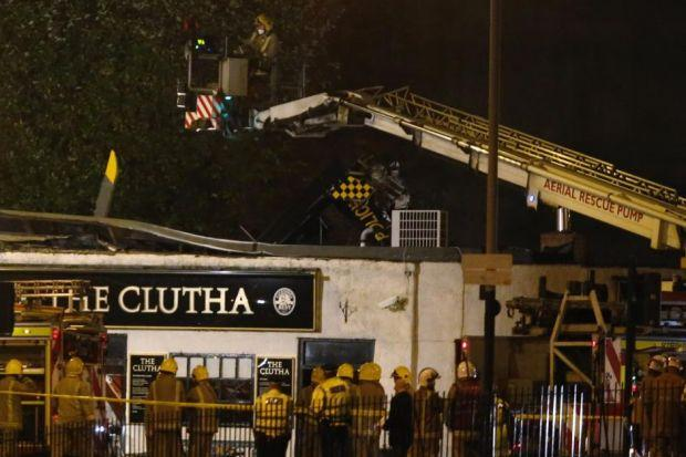 Ten people died after the helicopter crashed on to the Clutha Bar