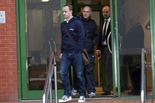 Leigh Griffiths was at Parkhead this morning