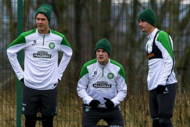 Anthony Stokes, centre, has hailed the signing of Griffiths