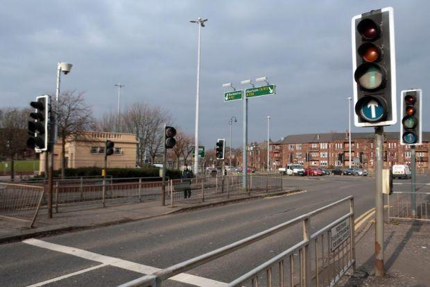 The lights at Anniesland Cross have sparked complaints from drivers caught in lengthy traffic jams