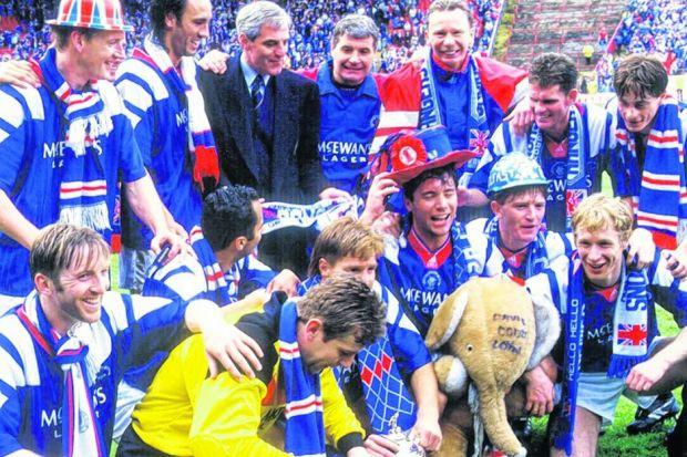 David Robertson (back row, far right) does not have fond memories of the cup win in 1992