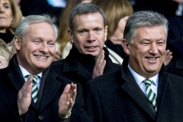 Peter Lawwell, right, has reason to smile
