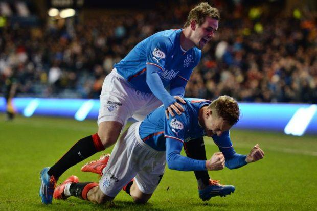 David Templeton is enjoying playing up front alongside Dean Shiels