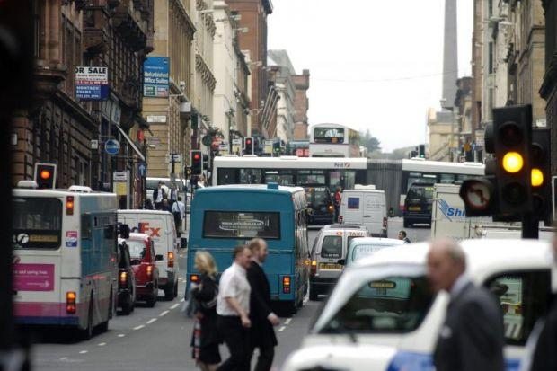 Hope Street was found to be the most polluted street in Scotland for the second year in a row