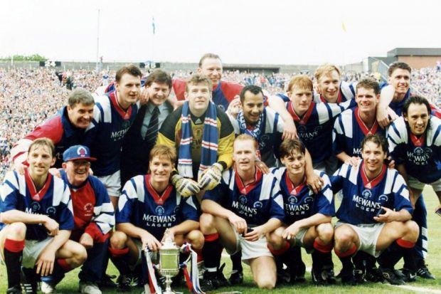 Robertson and McCoist, both bottom right, enjoyed great success as players together at Ibrox