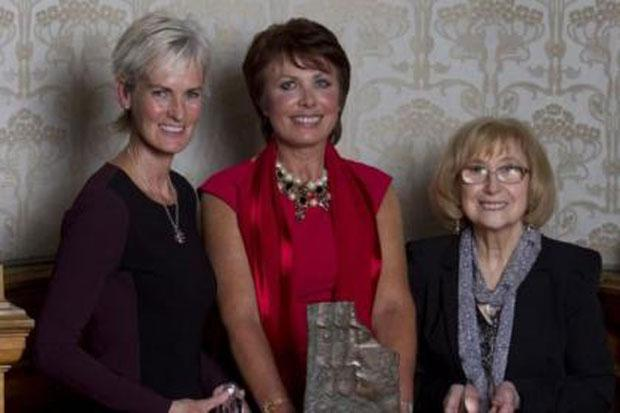 Scotswoman of the Year winner Ann Moulds, centre, with Judy Murray, left, who received the Sports Award and Madalena Brown, right, the recipient of the Editor's Award