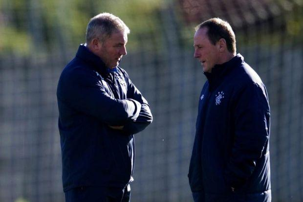 Jimmy Sinclair with Ally McCoist at Murray Park
