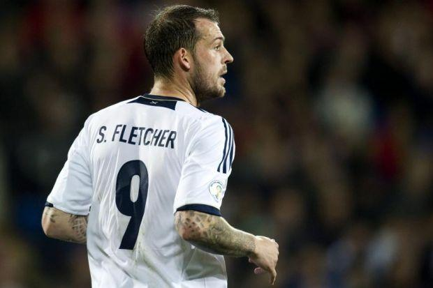 Leigh Griffiths could see a Scotland return if Steven Fletcher, above, pulls out