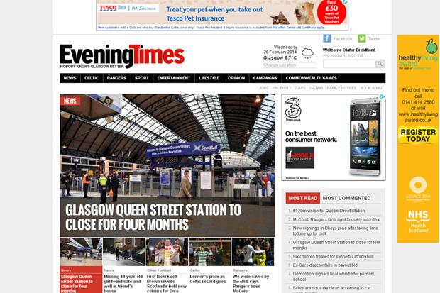 Your online Evening Times is UK's second fastest growing regional news site