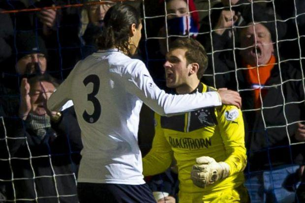 Cammy Bell and Bilel Mohsni clashed at Stranraer
