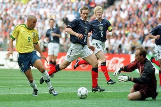 Glory days...Scotland v Brazil in the 1998 World Cup in France