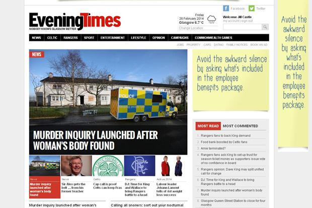 Now your online Evening Times tops table to become UK's fastest growing regional news site