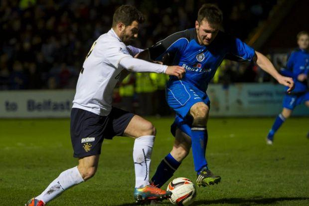 Foster played against Stranraer in place of the injured Seb Faure