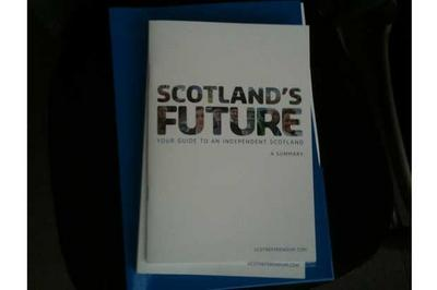 The Scottish Government spends £800,000 to meet the demand for copies of the white paper