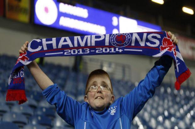 In pictures: it's party time for fans as Rangers clinch title