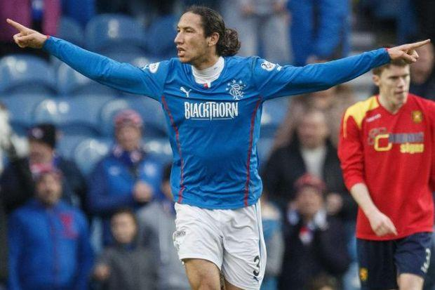 Rangers' Bilel Mohsni celebrates after