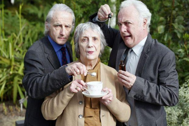 Cast members, from left, Andrew Byatt, Kay Gallie and Jimmy ChisholmPicture: Colin Templeton