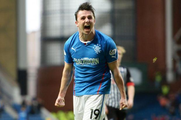 Calum Gallagher had been on the park just a matter of minutes before he netted on his debut