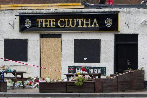 Floral tributes were left at the pub for those who died in the tragedy in November