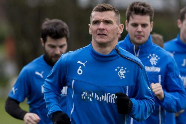 Rangers captain Lee McCulloch leads from the front during a training session ahead of Sunday's Ramsdens Cup final