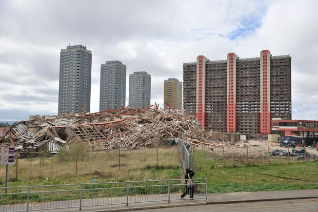 Games ceremony set to be explosive as Glasgow's Red Road flats are demolished live
