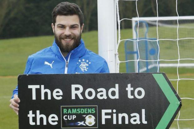 Richard Foster hopes his beard is bringing Rangers luck for their Ramsdens Cup conquest