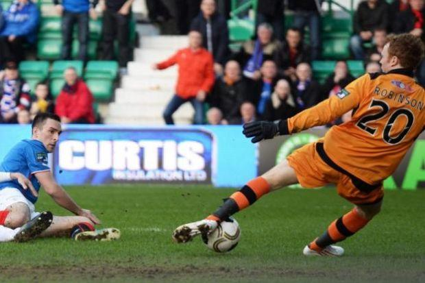 Lee Wallace went close with this effort against Raith Rovers