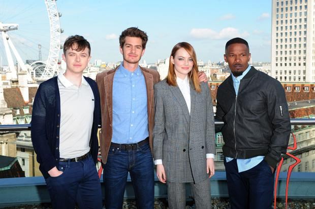 Jamie Foxx, Andrew Garfield and Emma Stone spin new Spiderman movie