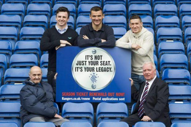Lee McCulloch was yesterday joined by Johnny Hubbard, Calum Gallagher, Fraser Aird and Alex MacDonald at Ibrox to urge Rangers fans to renew their season tickets