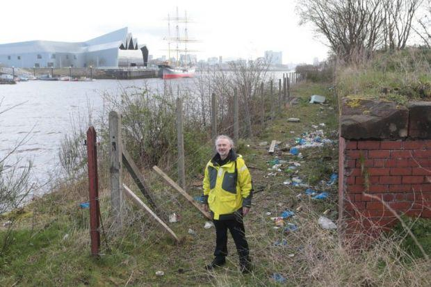 Pat Cassidy, of Govan Workspace, can't wait to reclaim the riverside path for locals Picture: Mark Mainz