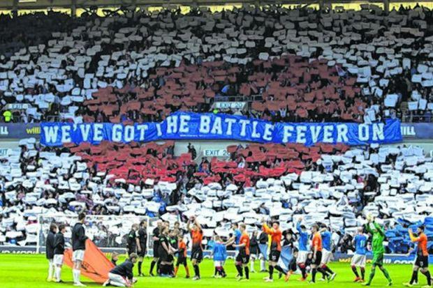 Gers fans had intimated that the team were up for a battle