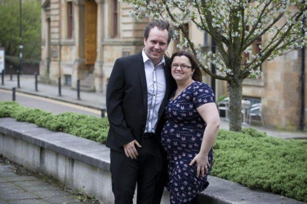 Scott, pictured with his wife Aileen, is raising money for the St Andrew's Hospice