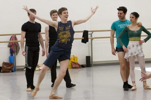 It may be hard work, but the Scottish Ballet dancers can still have fun at rehearsals. Pictures: Mark Gibson