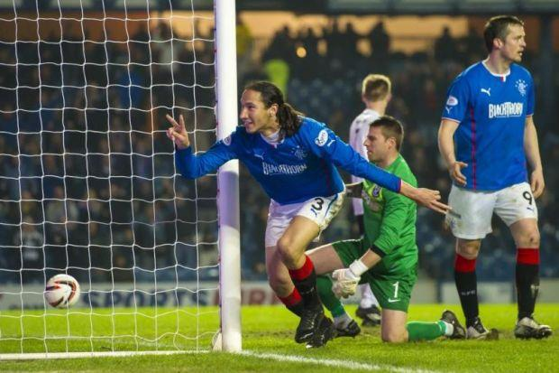 Bilel Mohsni scored Rangers' two goals to defeat Ayr