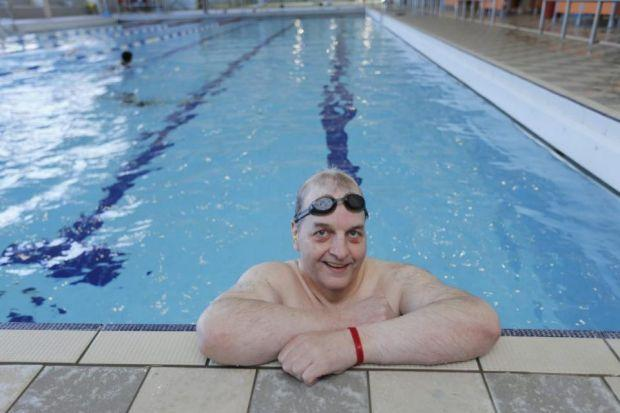 Dougie Johnston has regained his fitness through regular swimming